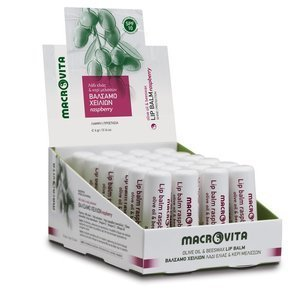 MACROVITA  Lip balm RASPBERRY SPF10 olive oil & beeswax 4g