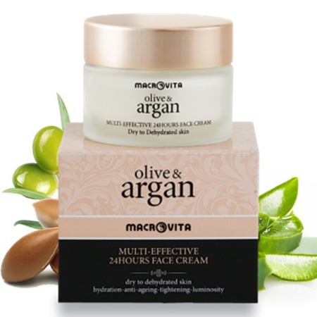 MACROVITA ARGAN & OLIVE MULTI-EFFECTIVE 24HOURS FACE CREAM dry to dehydrated skin 50ml