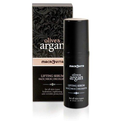 MACROVIT OLIVE & ARGAN Lifting Serum für Gesicht, Hals und Dekolleté TimeCode™ Formel 30ml